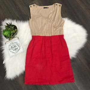 Anthropology THML Duo Color Sleeveless Dress Sz S